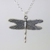 Dragonfly Necklace - Silver Chain Handmade Dragonfly Pendant Necklace
