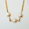 UPCYCLED Gold Chain Handmade Pearl Bead Connector Necklace